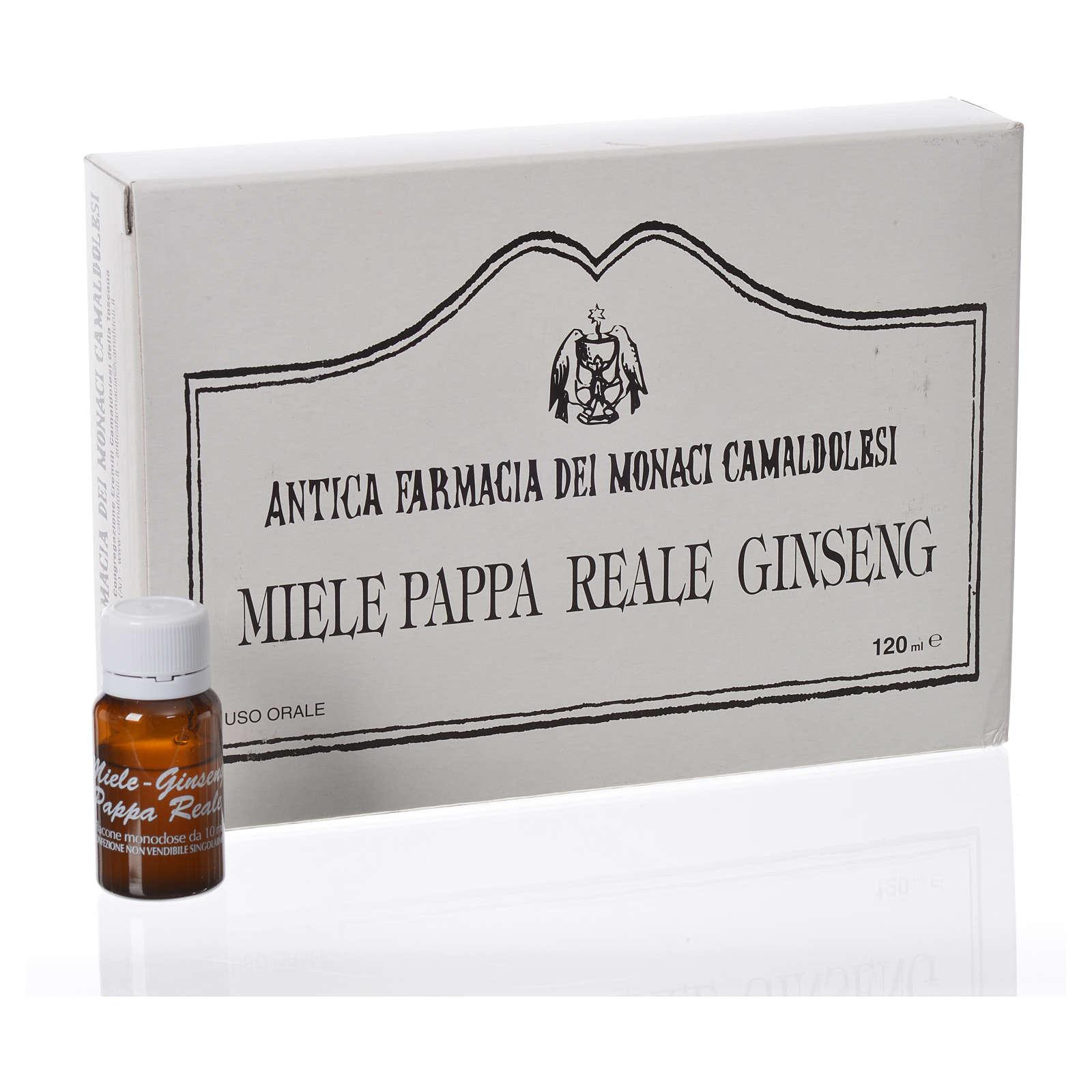 Complément alimentaire ampoules miel gelée royale ginseng Camaldoli 3