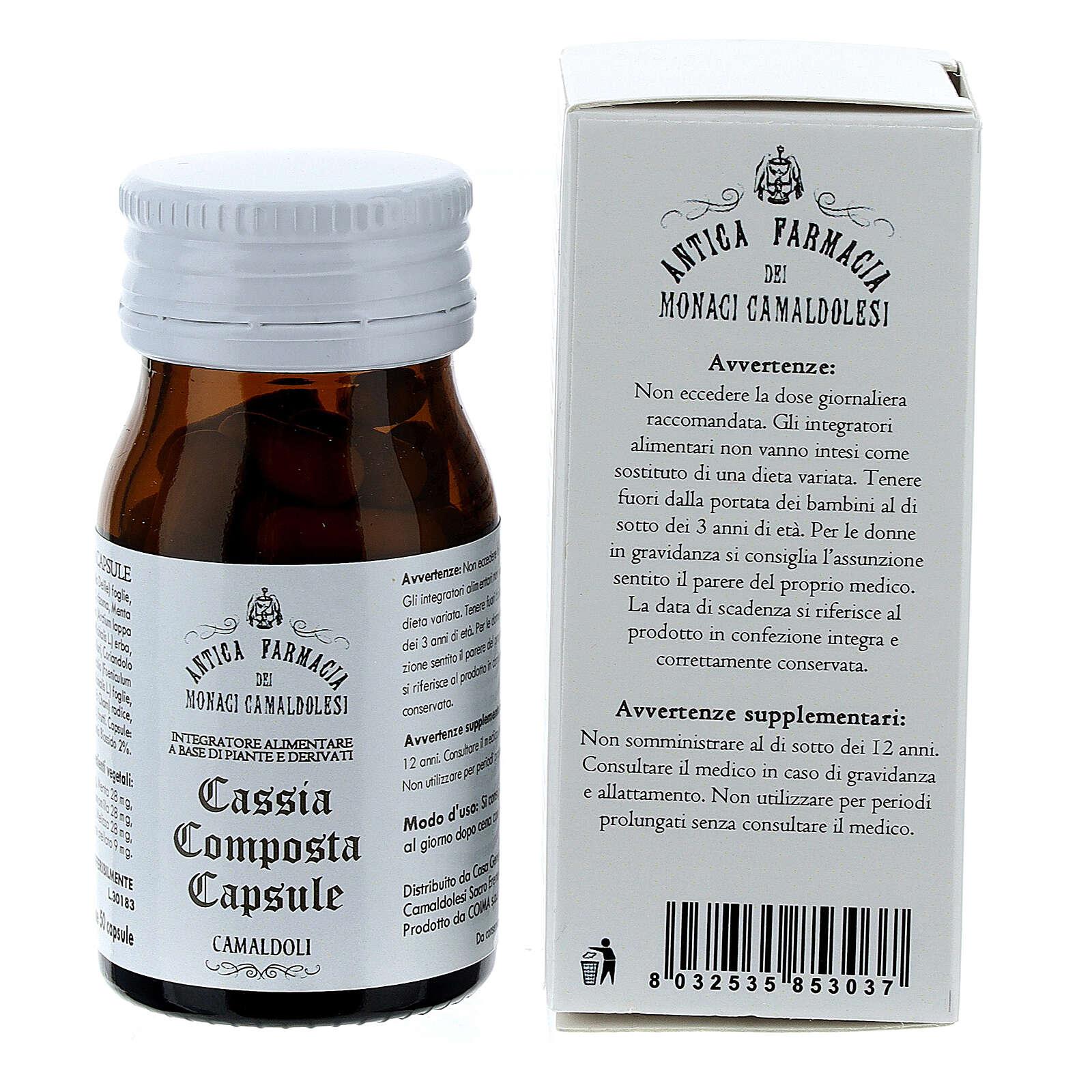 Complément alimentaire Cassia Composta gélules 50 pcs Camaldoli 3