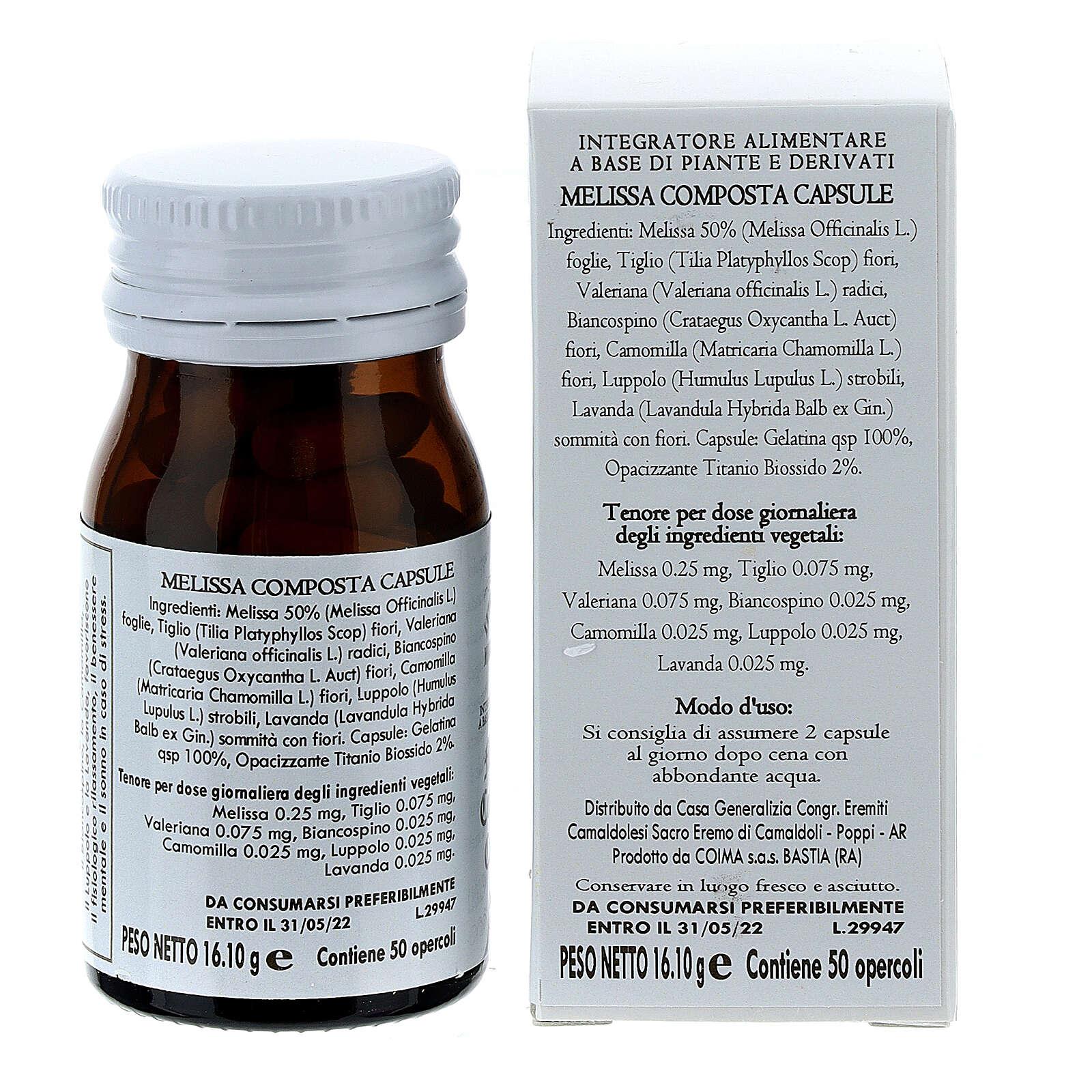 Complément alimentaire Melissa Composta gélules 50 pcs Camaldoli 3