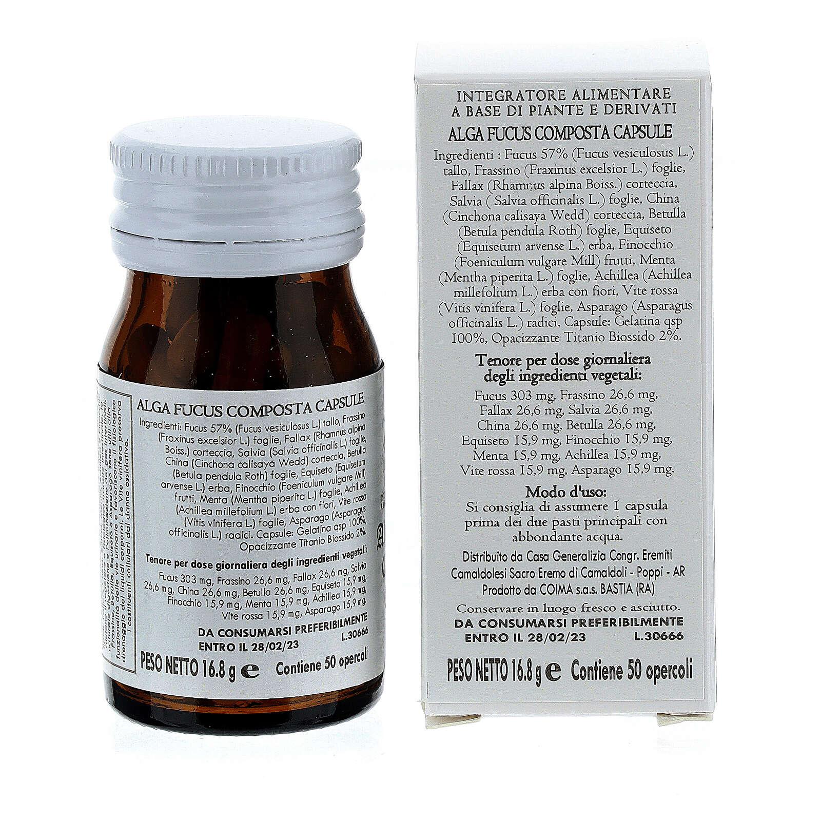 Complément alimentaire Algue Fucus Composta gélules 50 pcs Camaldoli 3