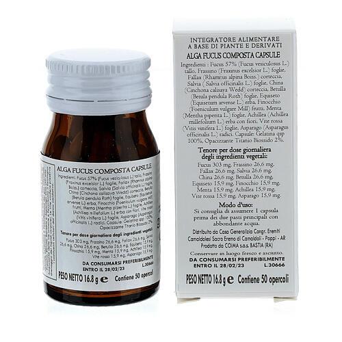 Complément alimentaire Algue Fucus Composta gélules 50 pcs Camaldoli 5
