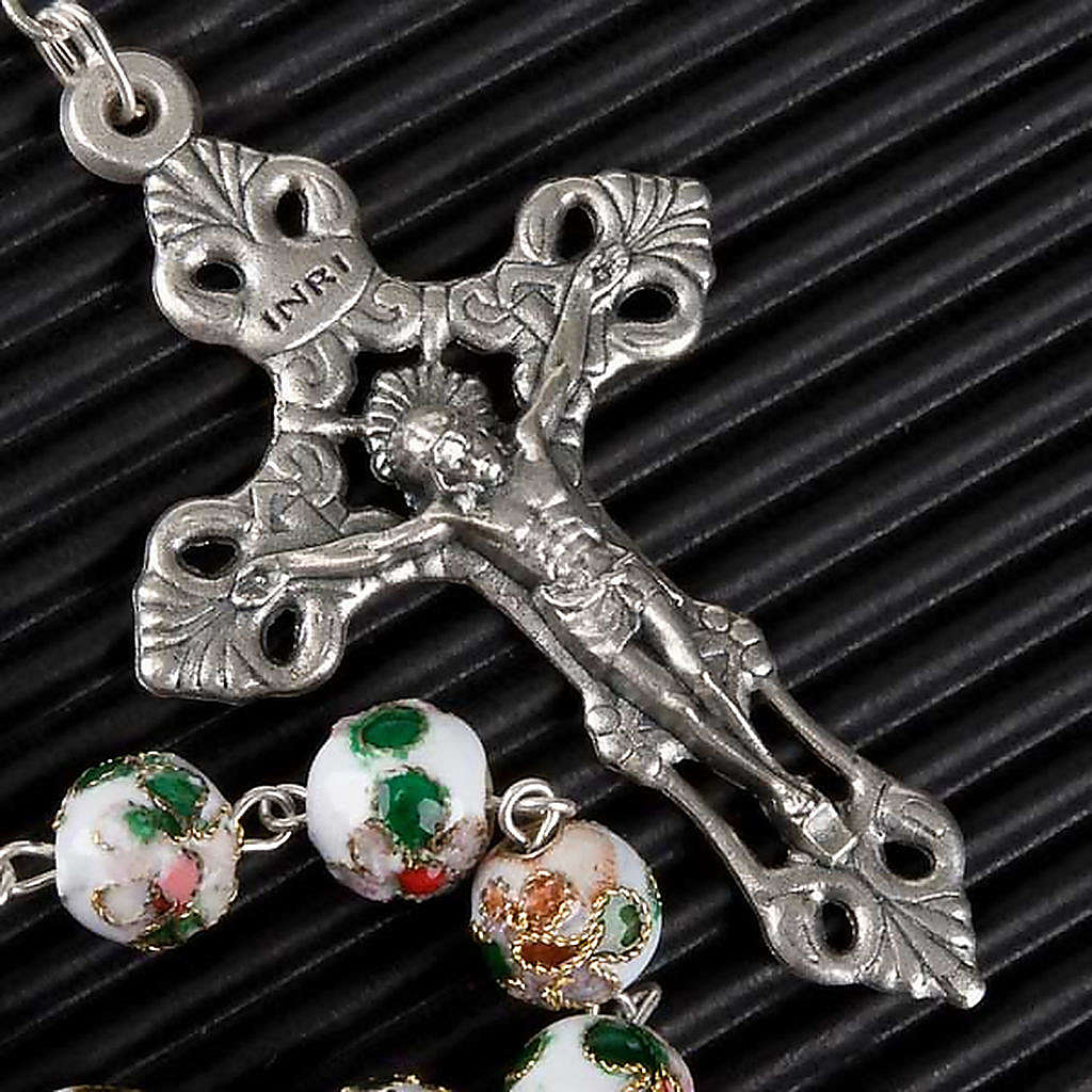 Cloisonné rosary with round 8mm beads 4