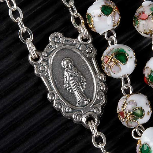 Cloisonné rosary with round 8mm beads 2