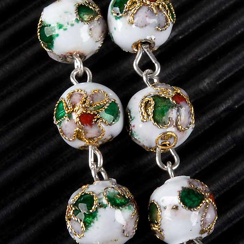Cloisonné rosary with round 8mm beads 6
