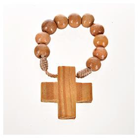 Zehner Rosenkranz kreisen Perlen auf Kordel s2