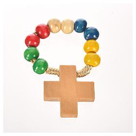Zehner Rosenkranz kreisen Perlen auf Kordel s3