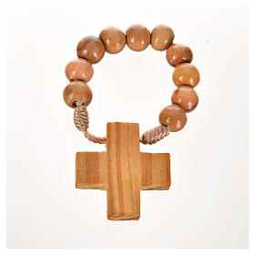 Wood ten beads rosary s2
