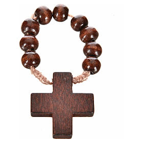 Wood ten beads rosary s4