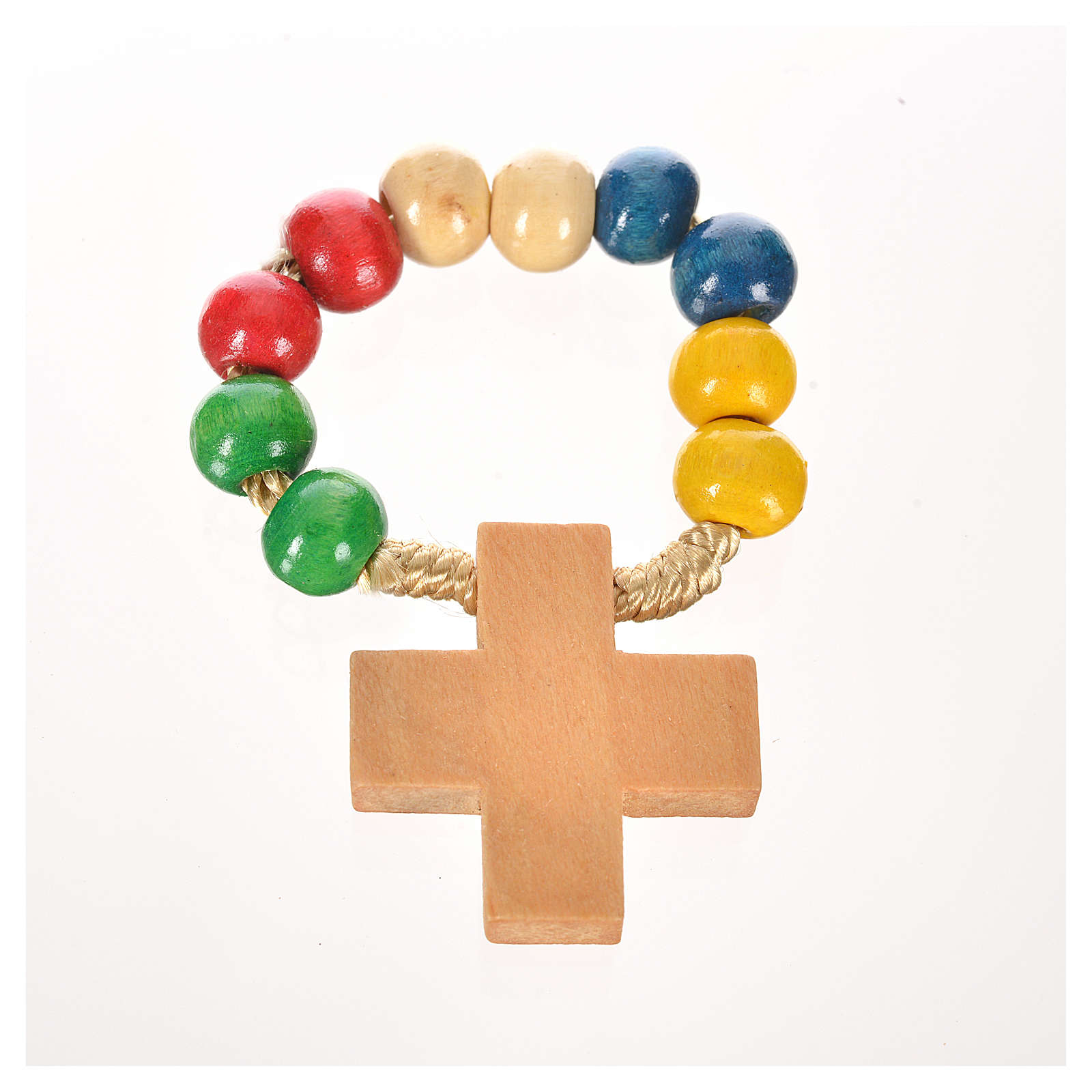 Wood ten beads rosary 4
