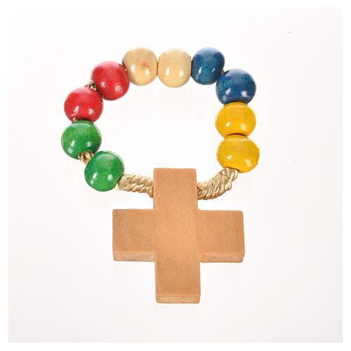 Wood ten beads rosary 3