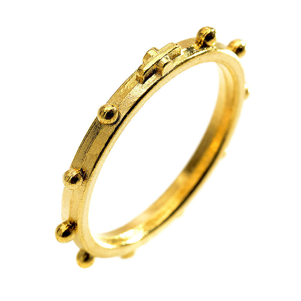 Golden rosary ring 3