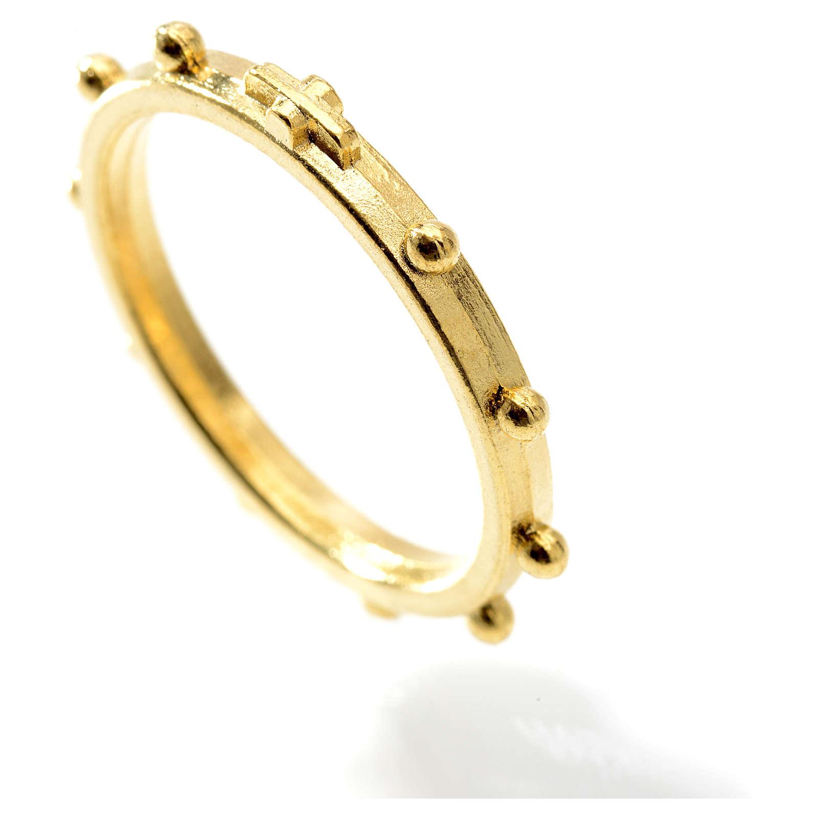 Różaniec na palec w kolorze złotym 3