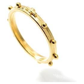 Różaniec na palec w kolorze złotym s2