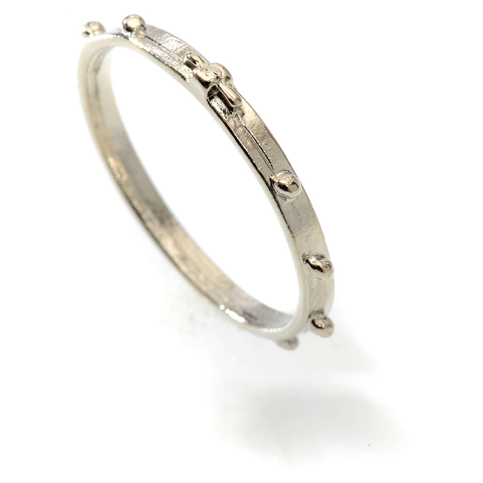 Terço anel prateado 3