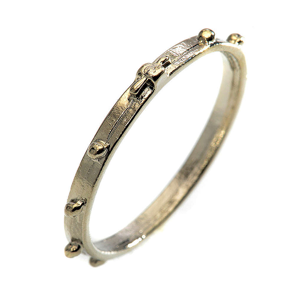 Silver-plated rosary ring 3