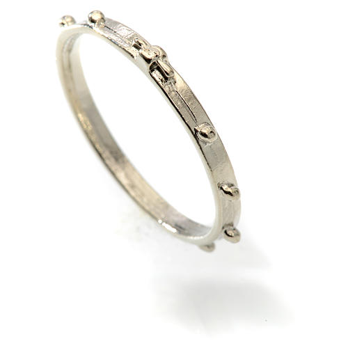 Silver-plated rosary ring 2