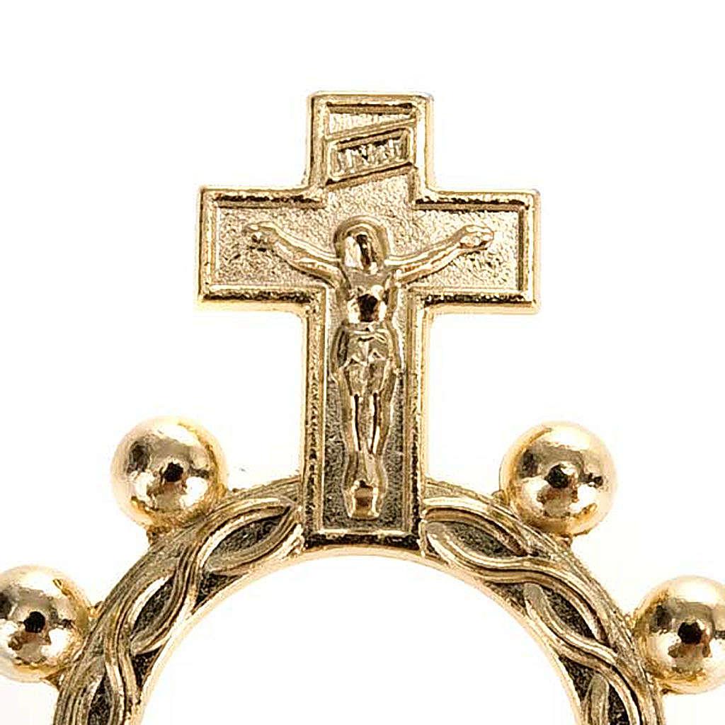 Rosario anillo scout plateado o dorado 3