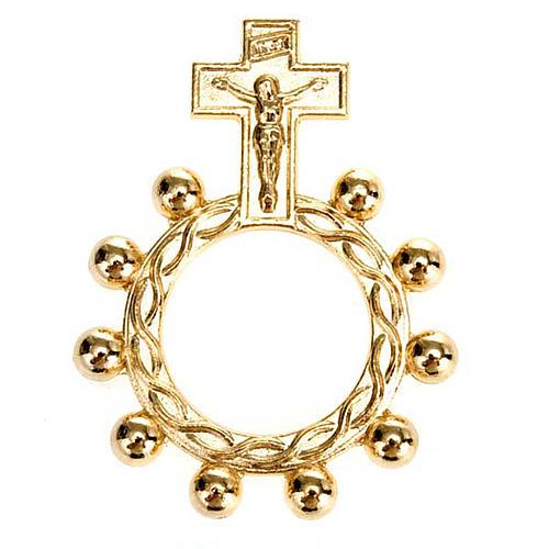 Rosario anillo scout plateado o dorado 4
