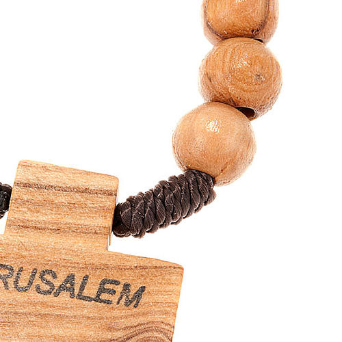 Holy Land olive wood decade rosary 2