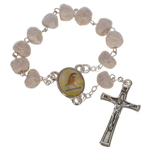 White stone Medjugorje decade rosary 1
