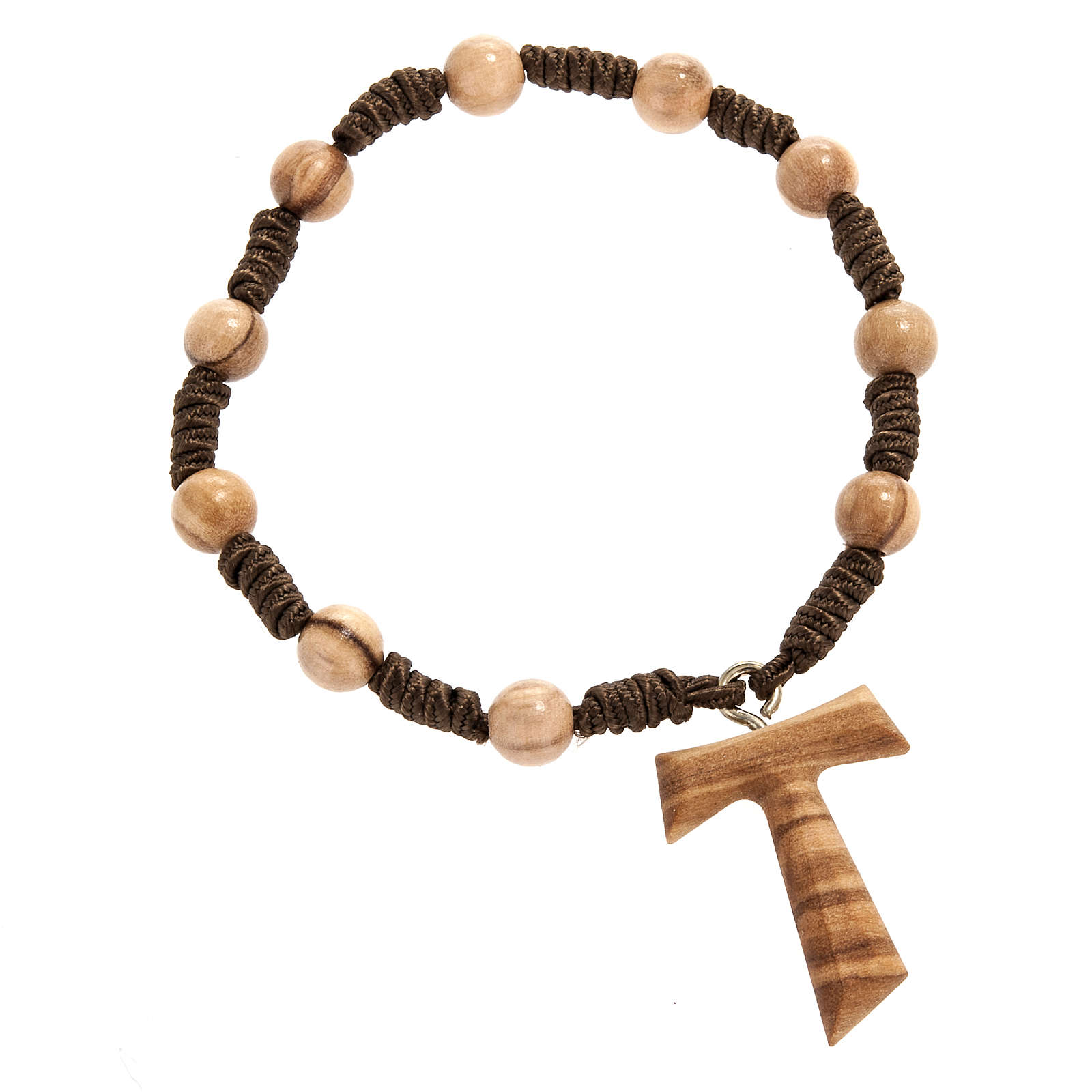 One decade olive wood beads rosary 7 mm 4