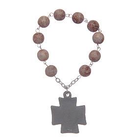 Decade rosary, imitation stone beads s2