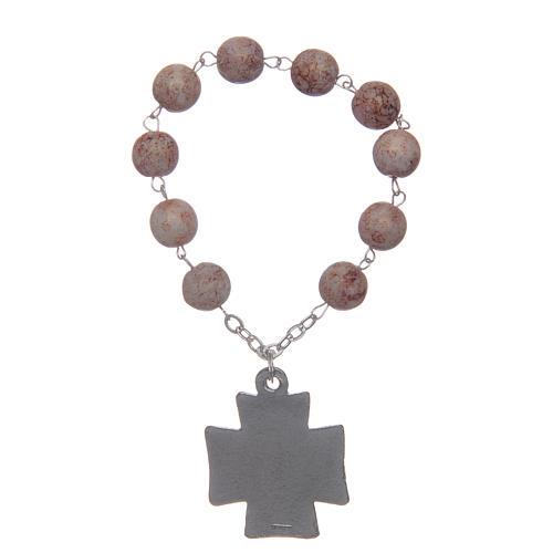 Decade rosary, imitation stone beads 2