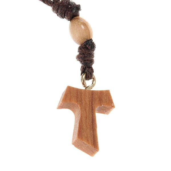 Decena en cuerda y olivo con cruz Tau 4