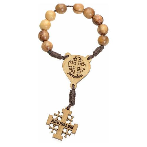 Chapelet dizainier Terre Sainte olivier croix Jérusalem 1
