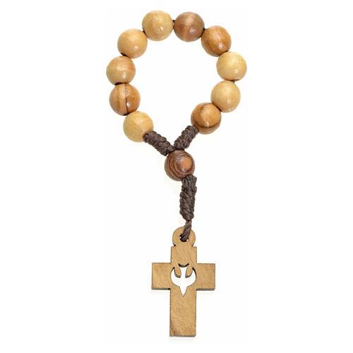 Chapelet dizainier Terre Sainte olivier croix colombe 2