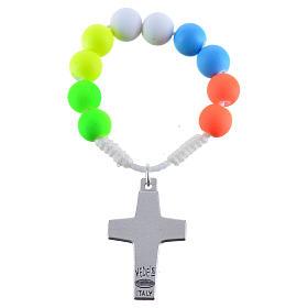 Rosario decina fimo multicolor Papa Francesco s2