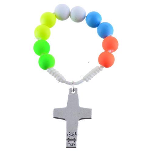 Rosario decina fimo multicolor Papa Francesco 2