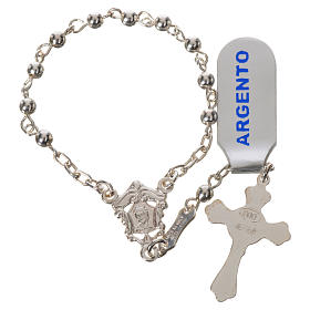 Single-decade rosary beads in polished 925 silver s2