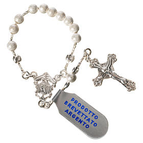 Single-decade rosary with moving grains, 925 silver 4mm s3