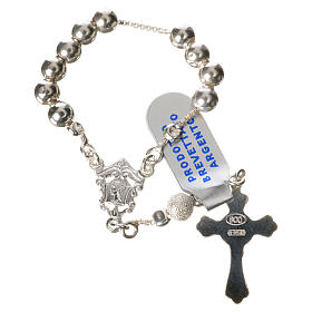 Single-decade rosary with moving grains, 925 silver 5mm s2