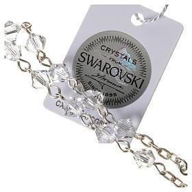 Chapelet dizainier argent 800 Swarovski transparents s3