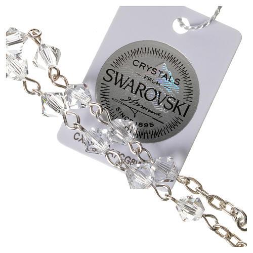 Rosario decina argento 925 Swarovski trasparenti 3