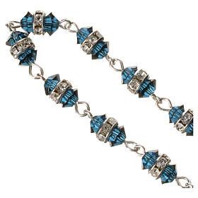 Rosario decina argento 800 cristallo blu s3