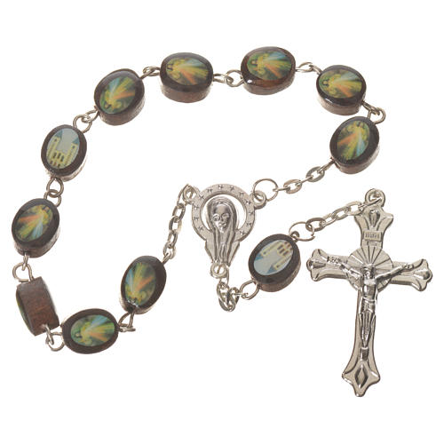 Wooden single decade rosary, Medjugorje 8x10mm 1