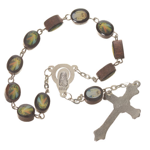 Wooden single decade rosary, Medjugorje 8x10mm 2