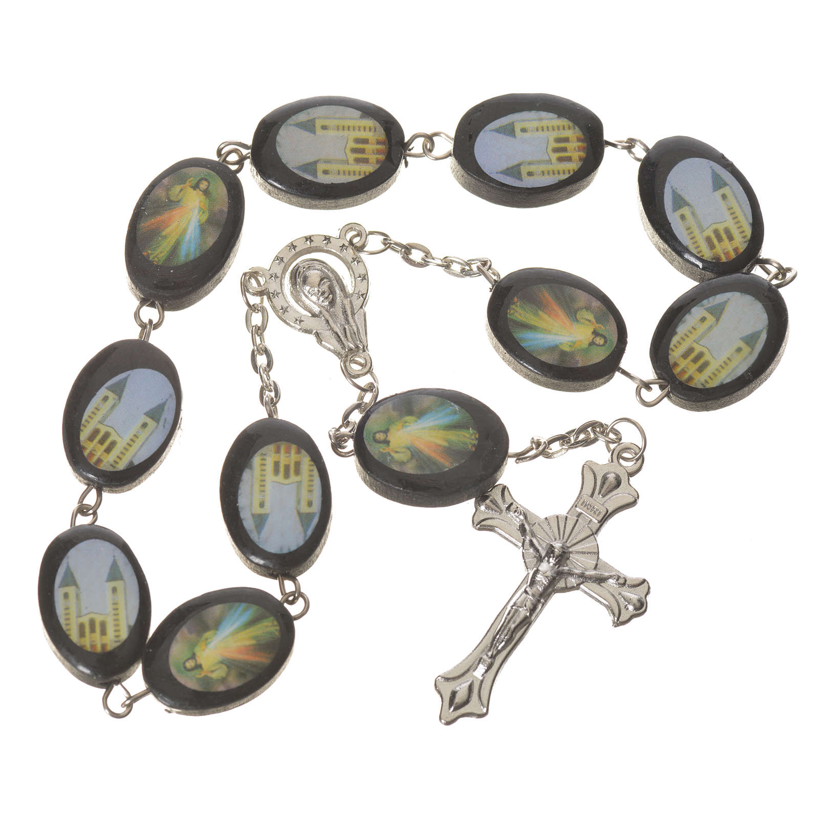 Wooden single decade rosary, Medjugorje 13x17mm 4