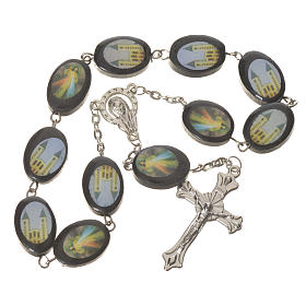 Wooden single decade rosary, Medjugorje 13x17mm s1