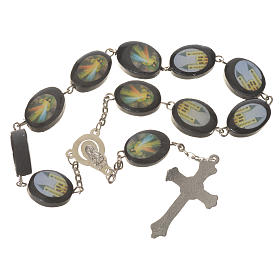 Wooden single decade rosary, Medjugorje 13x17mm s2