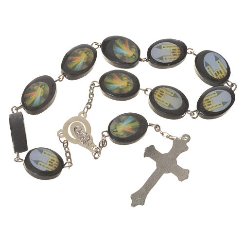 Wooden single decade rosary, Medjugorje 13x17mm 2