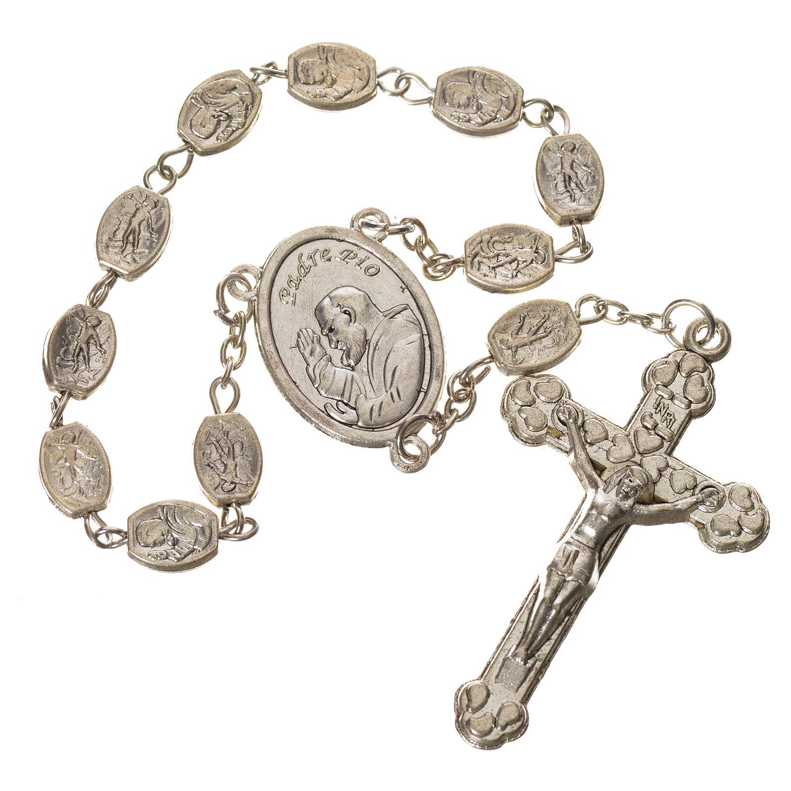 Dizainier métal St Pio et St Michel 7x9 mm 4