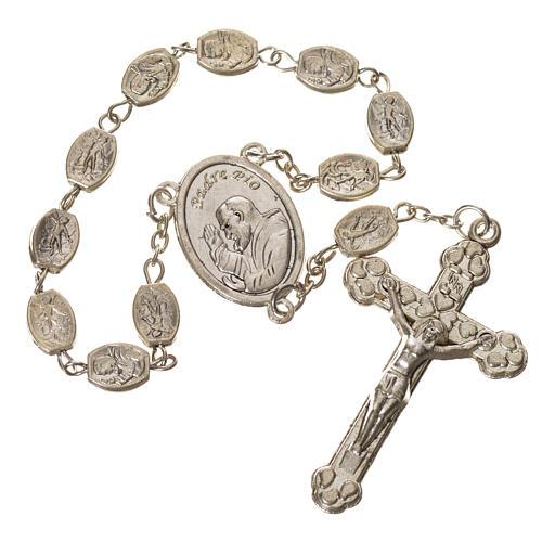 Dizainier métal St Pio et St Michel 7x9 mm 1