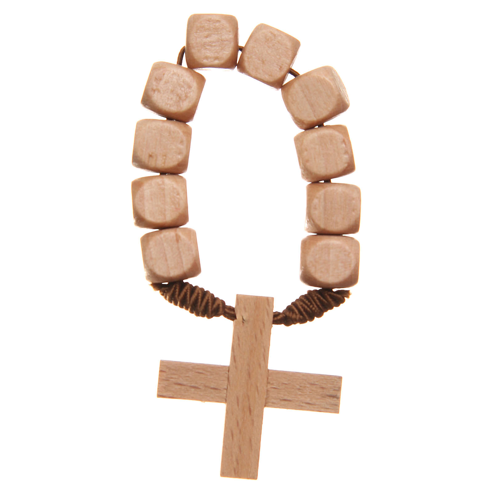 STOCK Ten beads rosary in wood 4