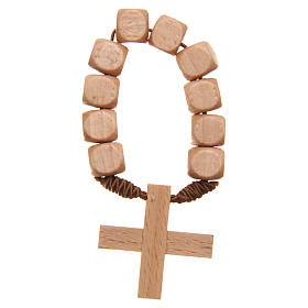 STOCK Ten beads rosary in wood s1