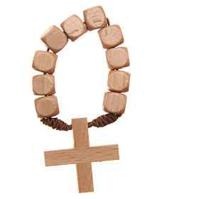 STOCK Ten beads rosary in wood s2