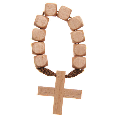 STOCK Ten beads rosary in wood 1